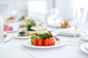 Vegetables on Festive Table