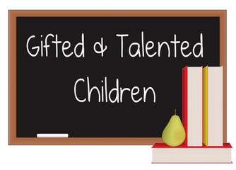 Gifted and talented children chalkboard