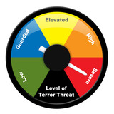 Illustration showing level of terror threat - Severe