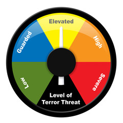 Illustration showing level of terror threat - Elevated