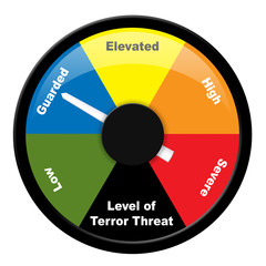 Illustration showing level of terror threat - Guarded