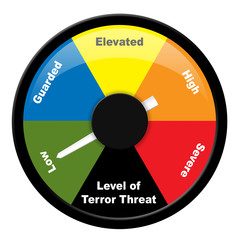 Illustration showing level of terror threat - Low