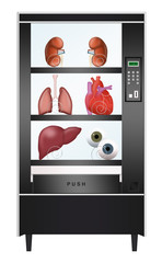 Vending machine with human organs - illegal trade in organs