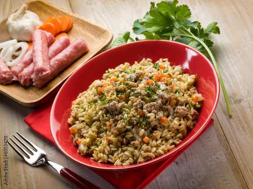 rice with sausage