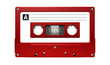 Red Audio Cassette Tape