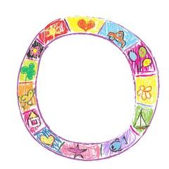 Childish doodles frame