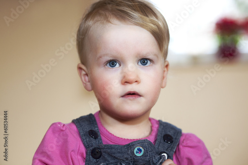 Astonished toddler