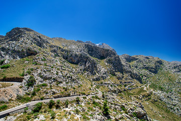 Mountain road on Mallorca