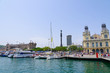 The port of Barcelona in Spain