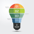Modern Design light Minimal style infographic template / can be