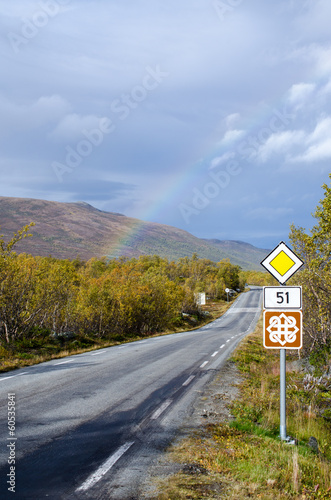 Rainbow on scenic road 51