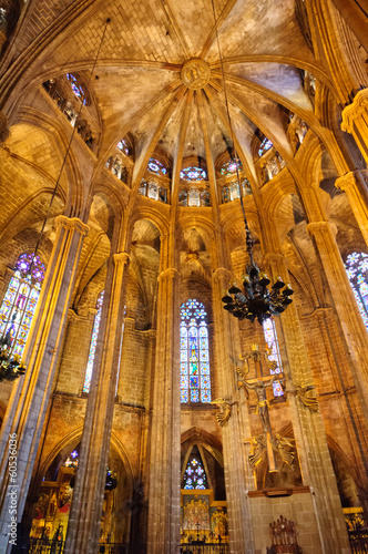 In de dag Barcelona The Cathedral in Barcelona, Spain