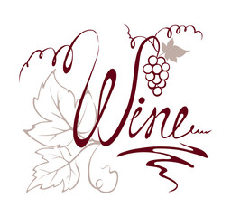 Design element -- title wine