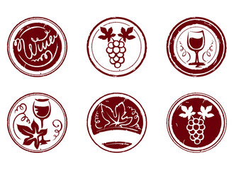 Design elements -- grape stamps