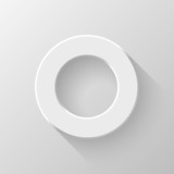 White Abstract Circle Volume Button Blank Template