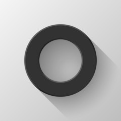 Black Abstract Circle Volume Button Blank Template