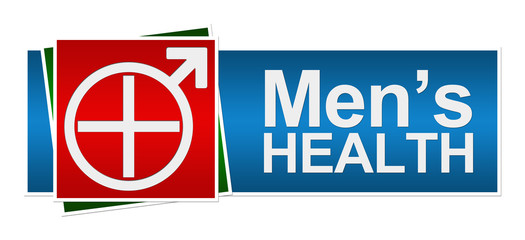 Mens Health Red Green Blue Banner