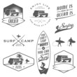 Set of vintage surfing labels, badges and design elements - 60536854