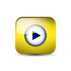 Web icon with play button