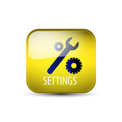 Web icon, button with settings