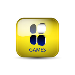 Web icon, button with games