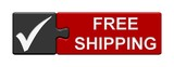 Puzzle-Button grau rot: Free Shipping