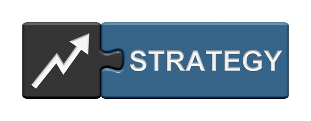 Puzzle-Button grau blau: Strategy