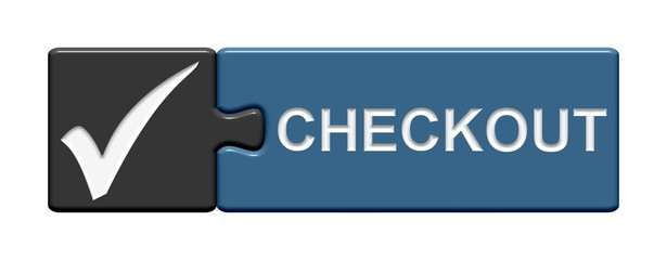 Puzzle-Button grau blau: Checkout