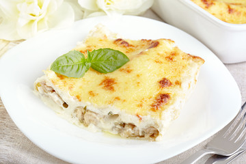 Cannelloni in sauce bechamel