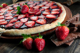 Strawberry and chocolate pizza - 60538892