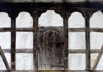 old door of the farmhouse