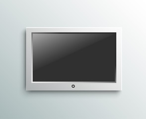 Led tv hanging monitor on the wall background
