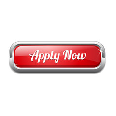 Apply Now Rounded Corner Rectangular Button Icon