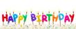 Leinwandbild Motiv Birthday cake candles