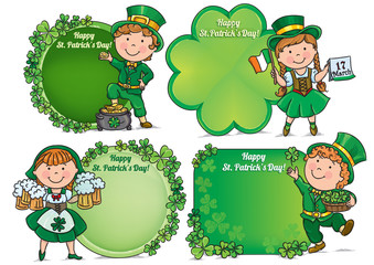 Happy St. Patricks Day greeting banners