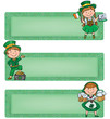 Happy St. Patrick horizontal banners
