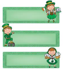 Happy St. Patrick horizontal banners