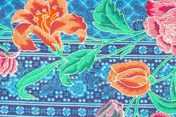 Colorful Batik Sarong Pattern Background