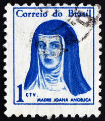 Postage stamp Brazil 1967 Mother Joana Angelica