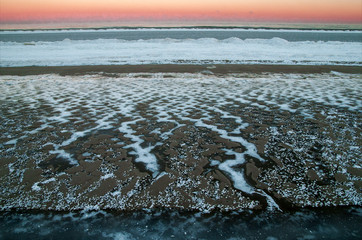 Frozen ocean in morning