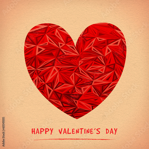 Happy Valentine's Day Greeting Card. Bitmap
