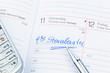 Eintrag im Kalender: Steuerberater