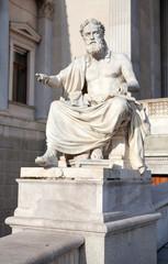 Xenophanes statue at Parliament in Veinna
