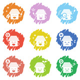 house icon set / vector eps