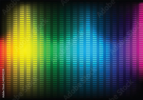 Abstract music equalizer background. Vector.
