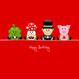 Cloverleaf, Fly Agaric, Chimney Sweeper & Pig Gifts Red