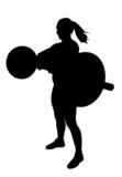 Lady Weight Lifter Silhouette