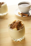 Tiramisu with Chocolate in Glass
