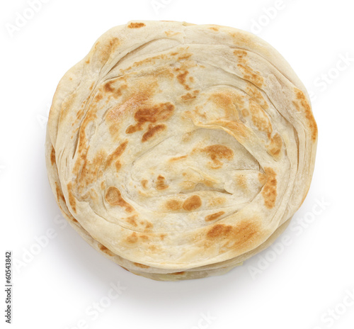 plain paratha, multi layered indian flat bread