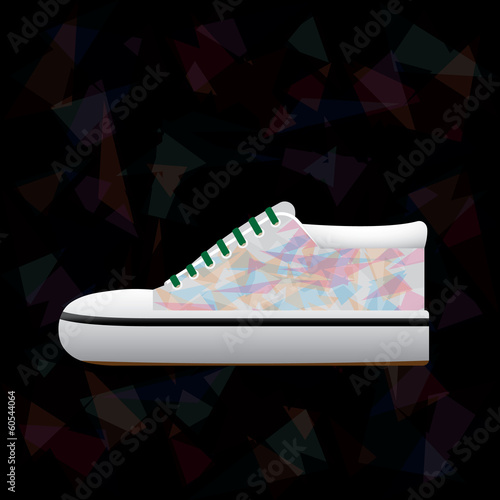 abstract tracery shoe